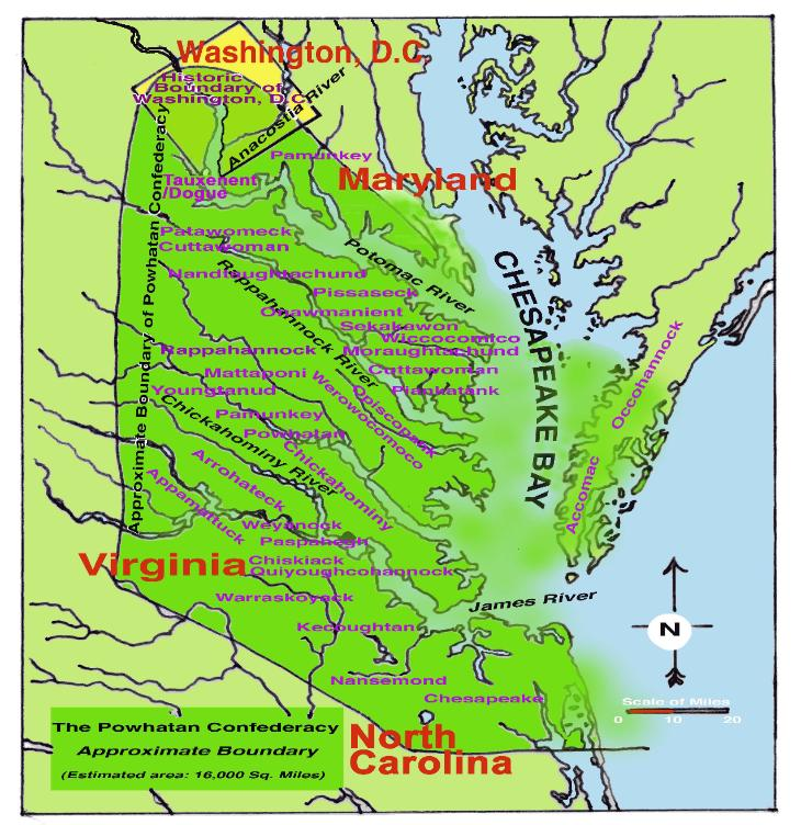 Powhatan Territorial Map - Virginia physical map